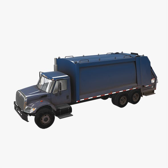 Garbage Truck International 7400