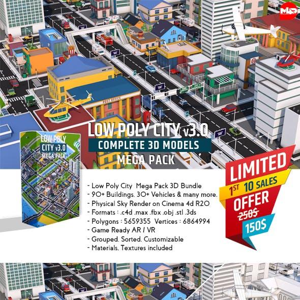 Low Poly City Mega Pack v3.0