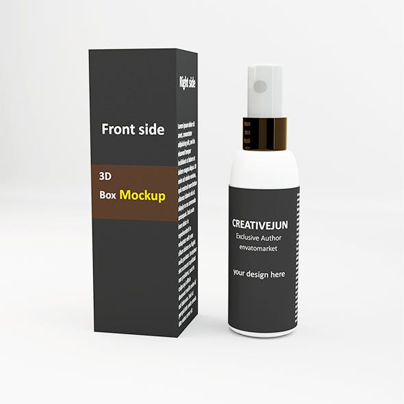 Cosmetics Bottle Container  with Box