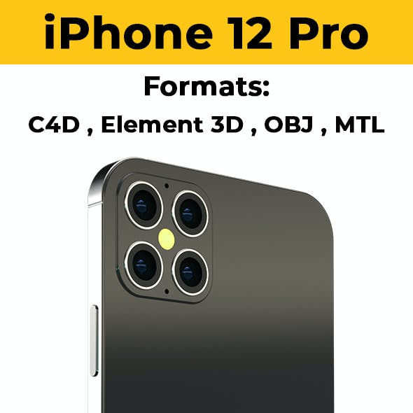 iPhone 13 Pro, iPhone 12 Pro Element 3D & C4D
