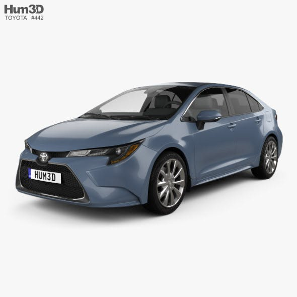 Toyota Corolla XLE US-spec sedan 2019