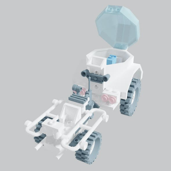 Space Crater Crawler Ground Vehicle