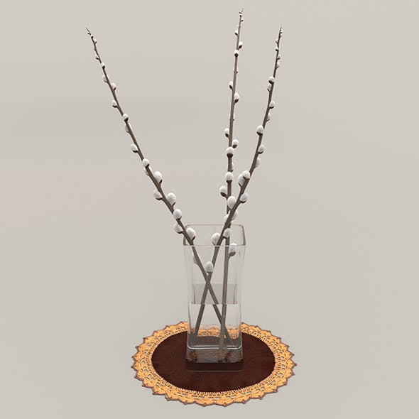 Vase and Willow twigs