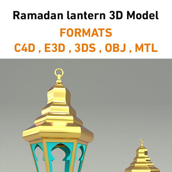 Ramadan lantern 3D Model Element 3D & Cinema 4D