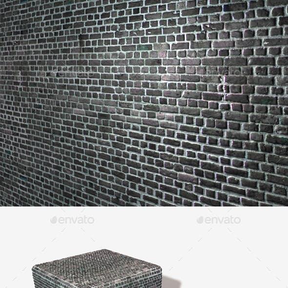 Dark Messy Brick Wall Seamless Texture