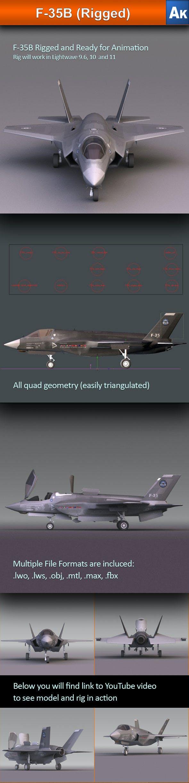 F-35B - 3DOcean Item for Sale