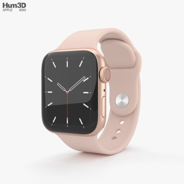 Apple Watch Series 5 40mm Gold Aluminum Case with Sport Band