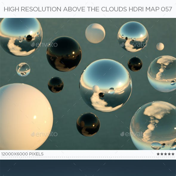 High Resolution Above The Clouds HDRi Map 057
