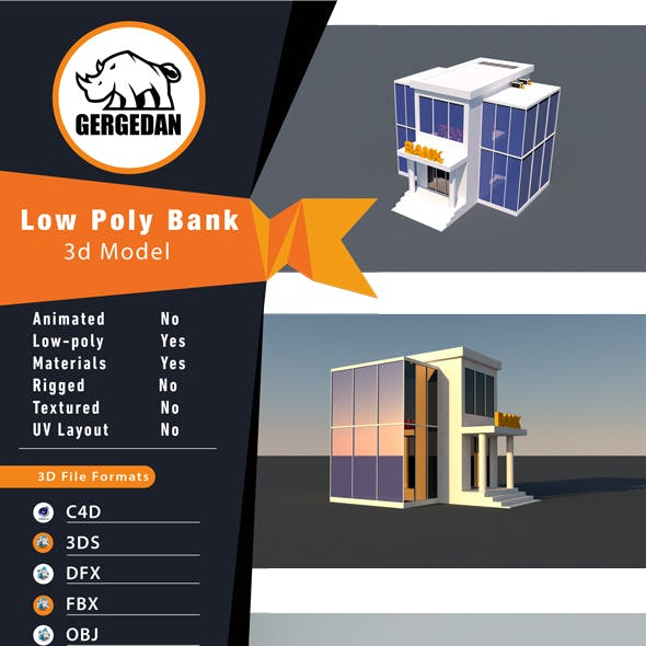 Low Poly Bank