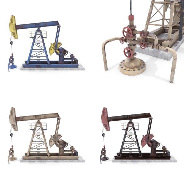 Oil Pumpjack Animated Weathered Pack