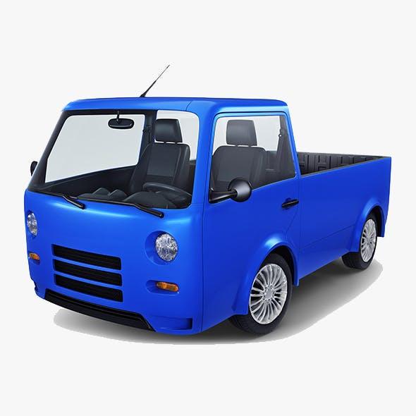 Kei Truck Concept Retro Style Blue