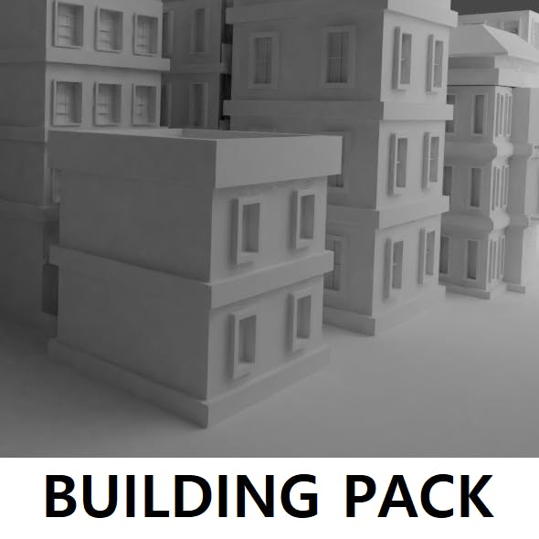 Low poly building pack.