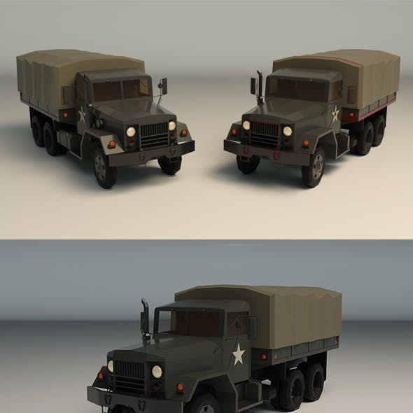 Low Poly Military Truck 02