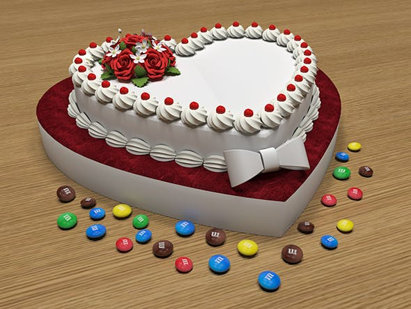 Love Cake 3D Model - 3DOcean Item for Sale