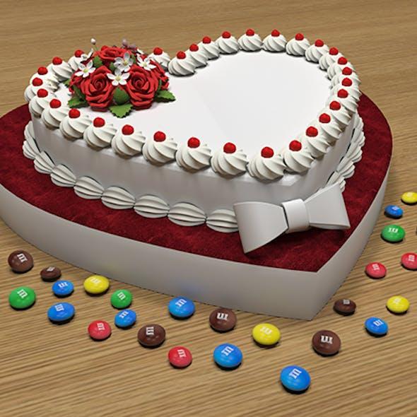 Love Cake 3D Model