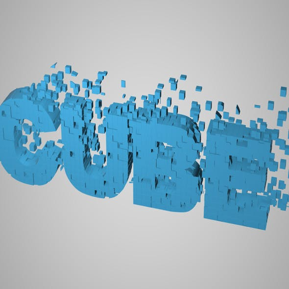 Alphabet Cubes (Pre-Fractured Pack) - 3DOcean Item for Sale