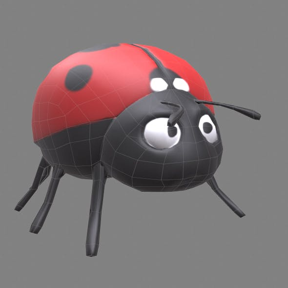 Low poly ladybug - 3DOcean Item for Sale