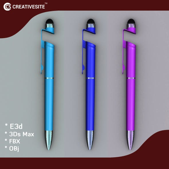 3D Pen Model with stylus and mobile stand - 3DOcean Item for Sale