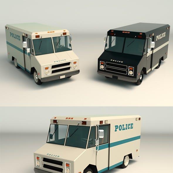Low Poly Police Van 03