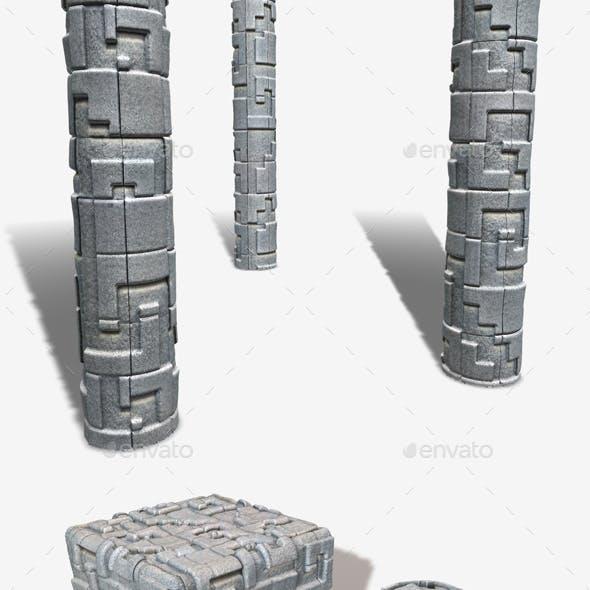 Abstract Decorative Bricks Seamless Texture