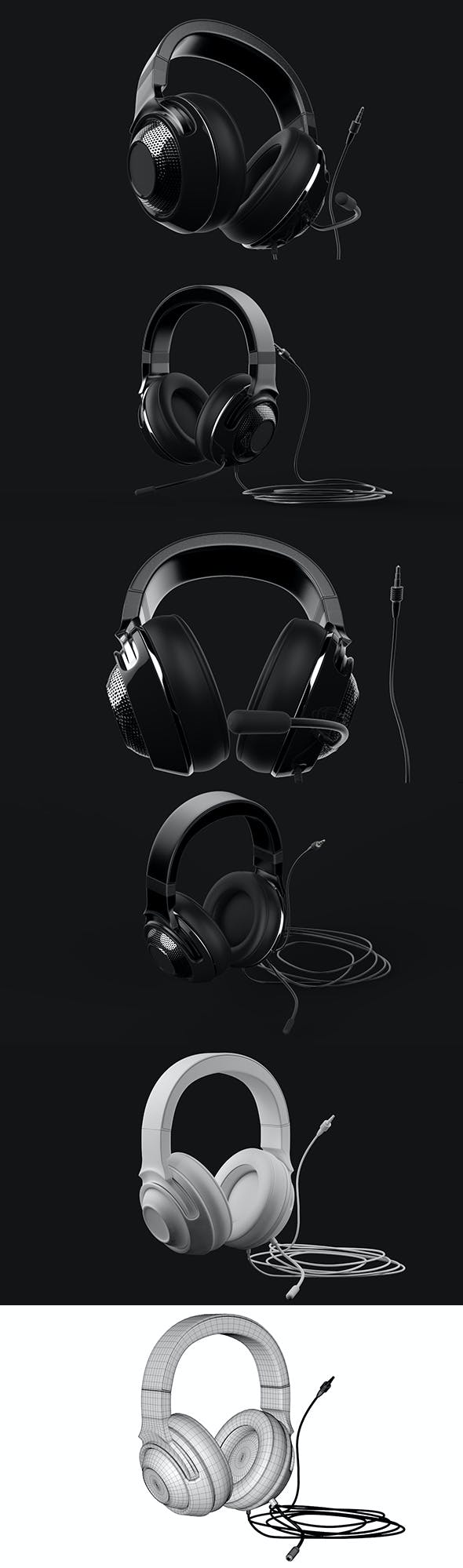 Headset 3D Modeling - 3DOcean Item for Sale