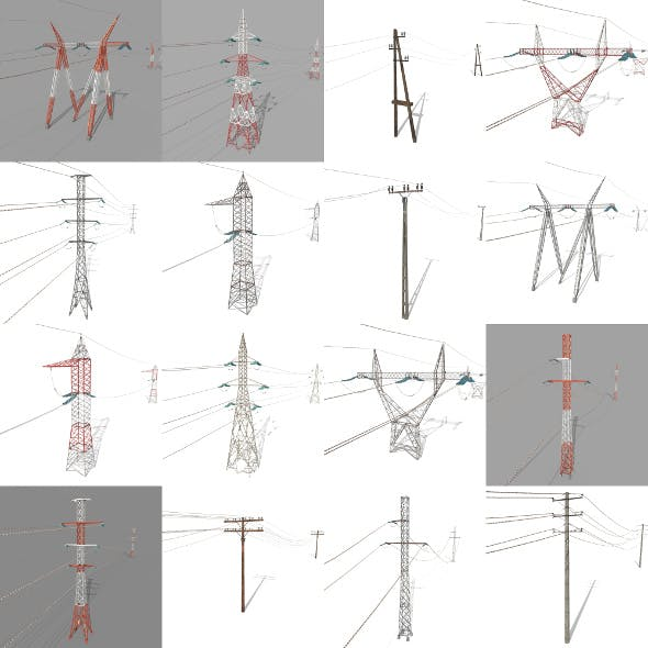 Electricity Pole Pack