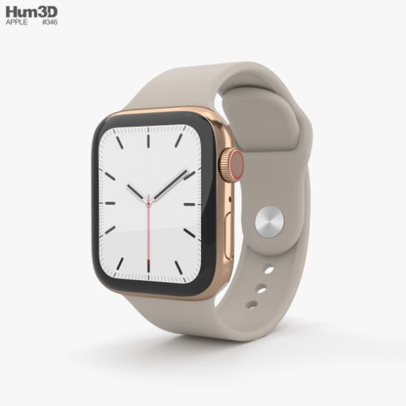 Apple Watch Series 5 40mm Gold Stainless Steel Case with Sport Band