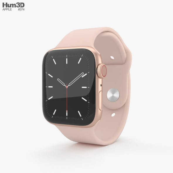 Apple Watch Series 5 44mm Gold Aluminum Case with Sport Band