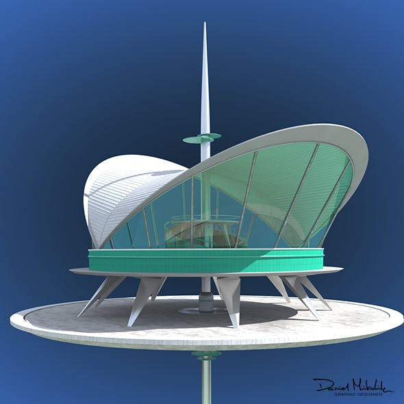 Futuristic Architecture Skyscraper #01 - 3DOcean Item for Sale
