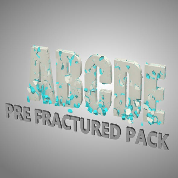 Alphabet Fractured - 3DOcean Item for Sale