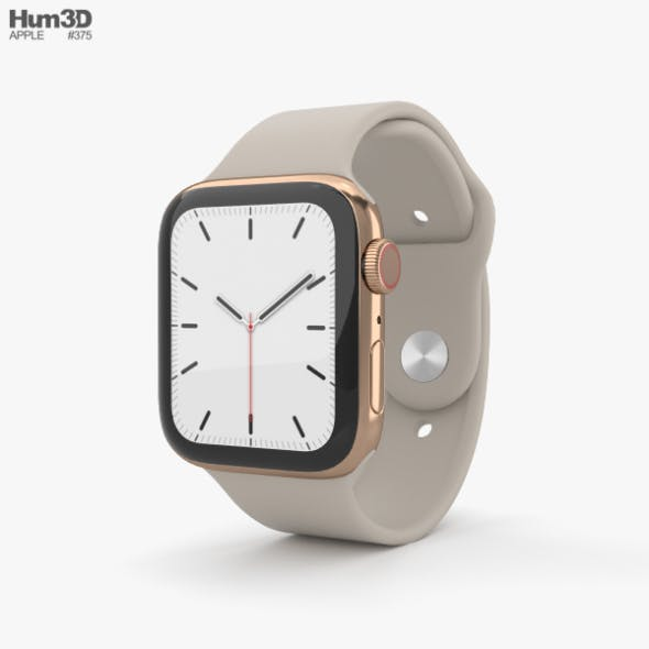 Apple Watch Series 5 44mm Gold Stainless Steel Case with Sport Band