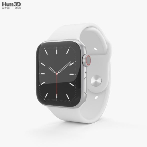Apple Watch Series 5 44mm Silver Aluminum Case with Sport Band