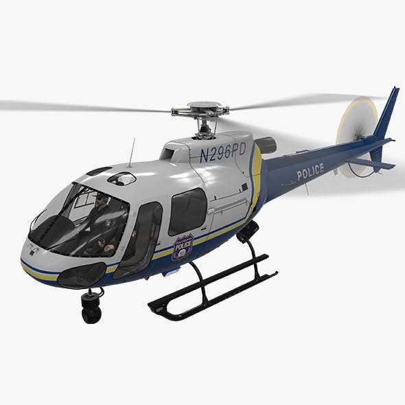 AS-350 Philadelphia Police Animated