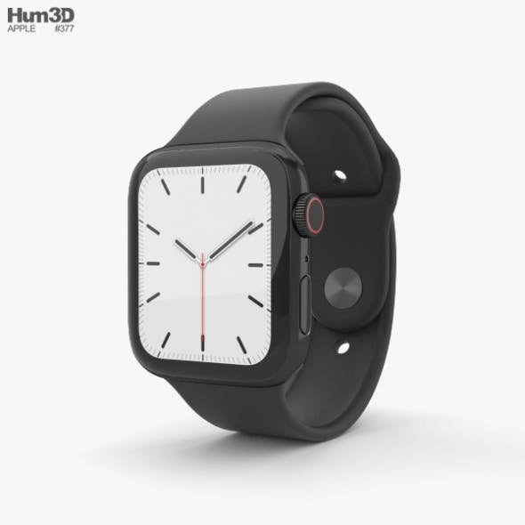 Apple Watch Series 5 44mm Space Black Stainless Steel Case with Sport Band