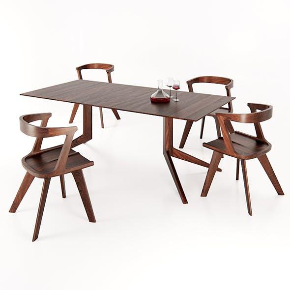 DE LA ESPADA Dinning set - 3DOcean Item for Sale