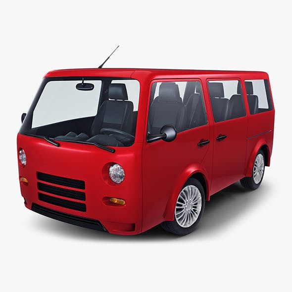 Kei Van Concept Retro Style Red - 3DOcean Item for Sale