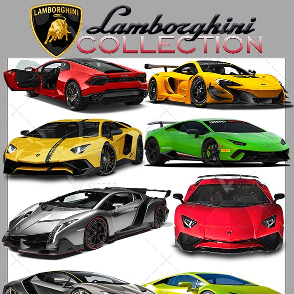 50 Lamborghini Cars Pack