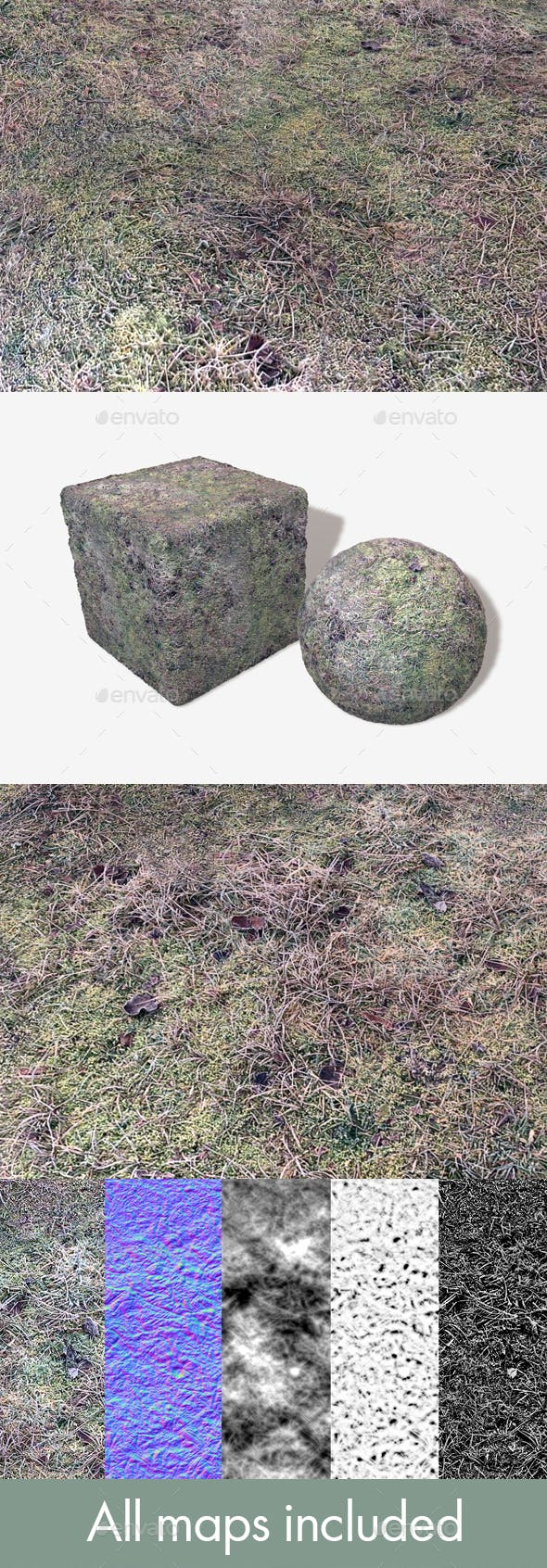 Frosted Moss Seamless Texture - 3DOcean Item for Sale