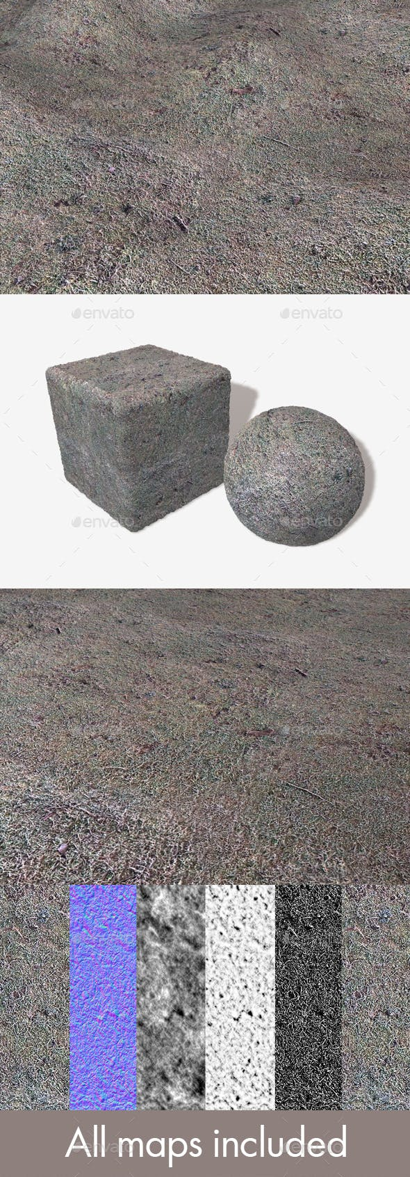 Frosty Moss Seamless Texture - 3DOcean Item for Sale