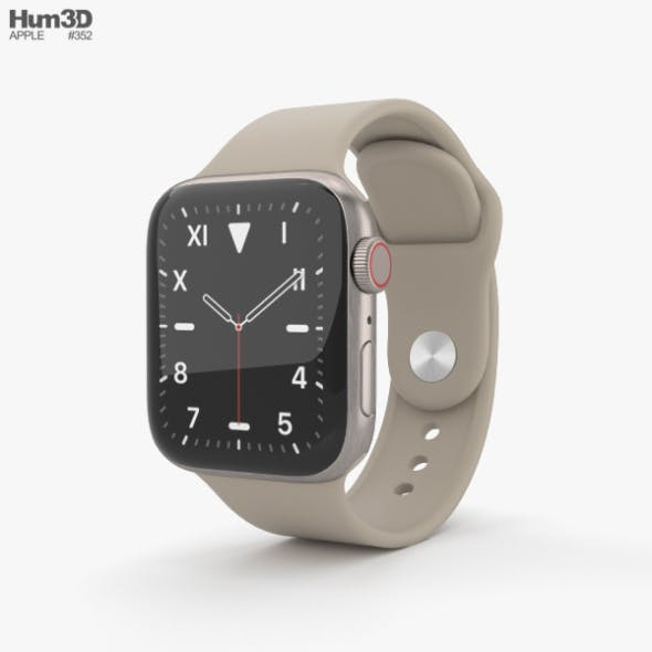 Apple Watch Series 5 40mm Titanium Case with Sport Band