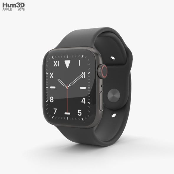 Apple Watch Series 5 44mm Space Black Titanium Case with Sport Band