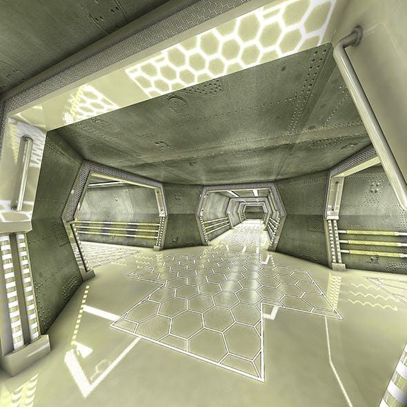 Sci Fi Modes Corridor 3D model - 3DOcean Item for Sale