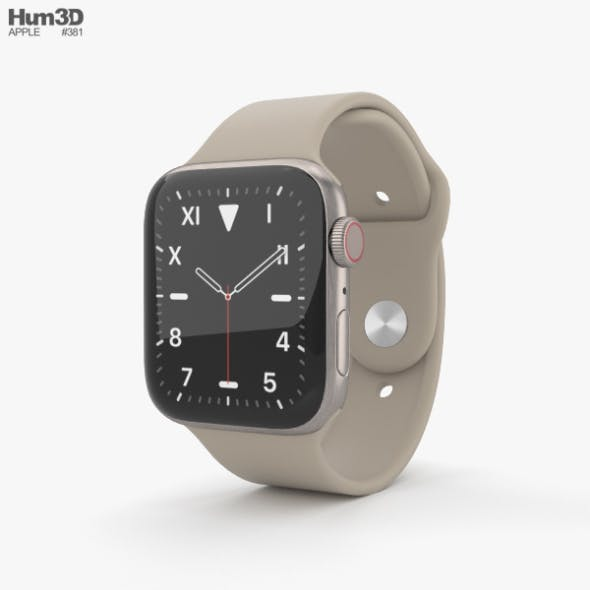 Apple Watch Series 5 44mm Titanium Case with Sport Band