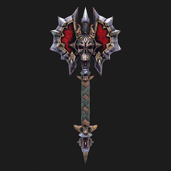 Fantasy axe 2 3d model - 3DOcean Item for Sale