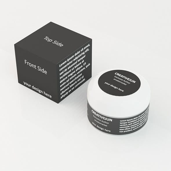 Cosmetics Jar with Box - 3DOcean Item for Sale