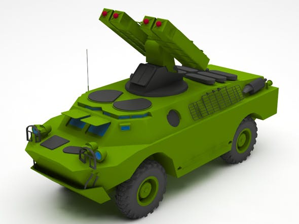 Military missille truck - 3DOcean Item for Sale