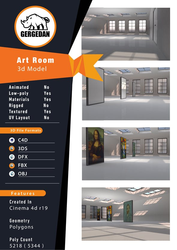 Art Room - 3DOcean Item for Sale