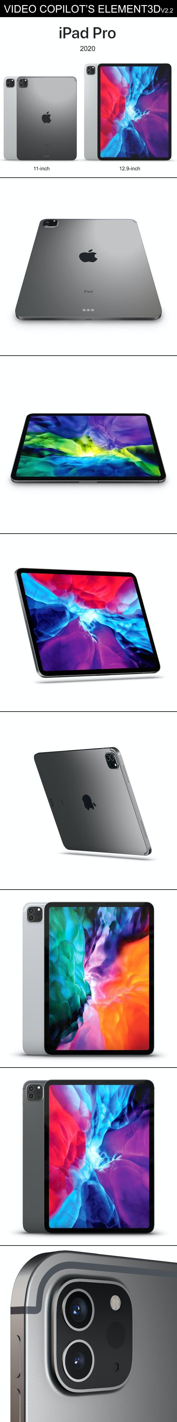 Element3D – iPad Pro 2020 - 3DOcean Item for Sale