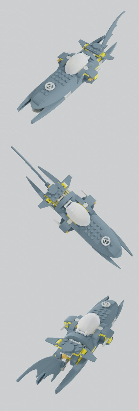 Batboat Submarine - 3DOcean Item for Sale