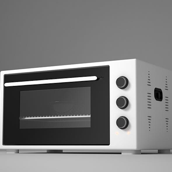 White Microwave Oven 3D Model